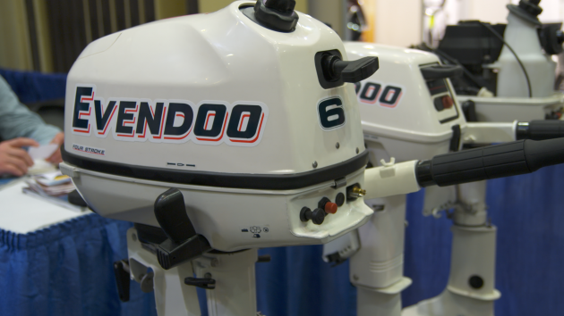 A photo of the Evendoo outboard.