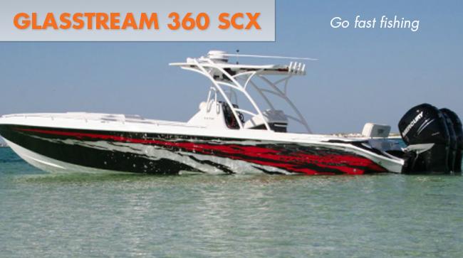 Glasstream 360 SCX in the water