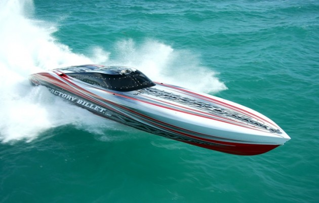 Founded by Fiore in 1993, Outerlimits has built more than 400 custom high-performance V-bottoms. Photo courtesy of Outerlimits Offshore Powerboats.