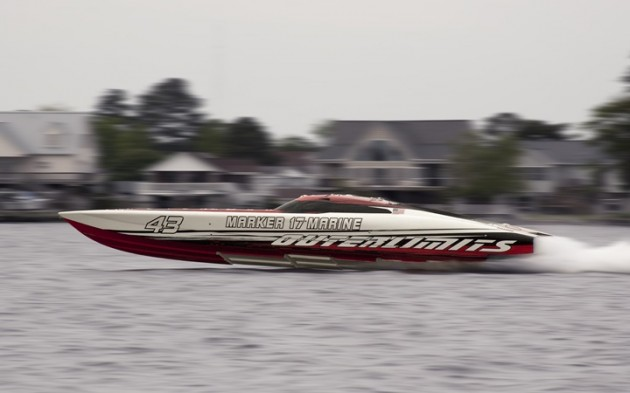 "Earlier this year, an Outerlimits SV 43 claimed the title of ""World's Fastest V-Bottom"" by running more than 180 mph."