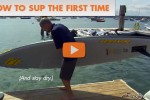 Lenny tries out a SUP for the first time and stays dry.