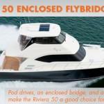 Riviera 50 Enclosed Flybridge: Cruiser or Fishing Boat? Yes.
