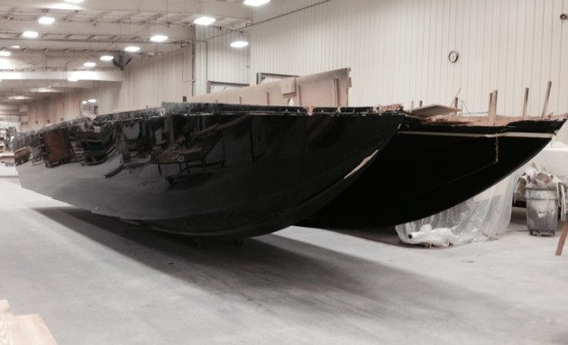 With The Hull Mold Complete