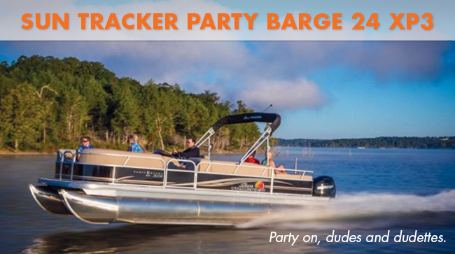 Sun Tracker Party Barge 24 running