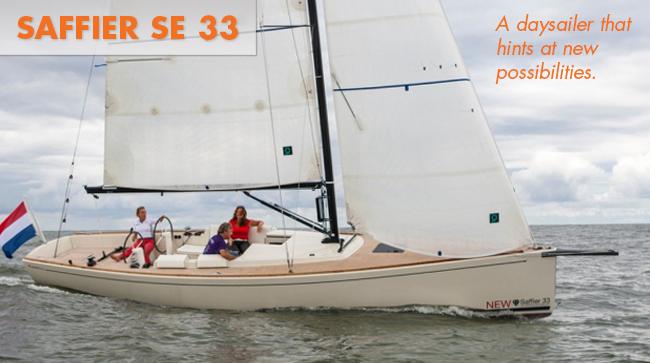 Saffier SE33 sailboat under sail