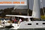 Nautitech open 40 sailing catamaran