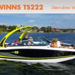 Four Winns TS222: Stern Drive Wake Surfing