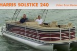 Harris Solstice 240 pontoon boat review