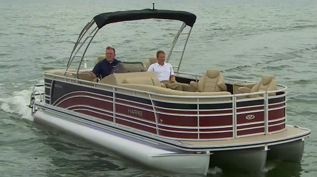 Harris Solstice 240 Video Pontoon Boat Review Boats Com