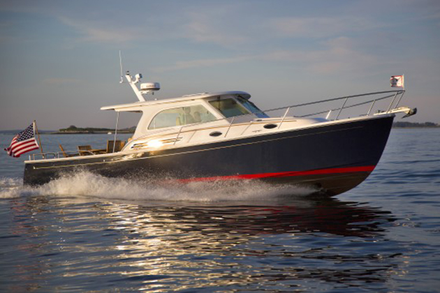 The Back Cove 37 is another boat that's definitely a yacht—and under 40 feet long.
