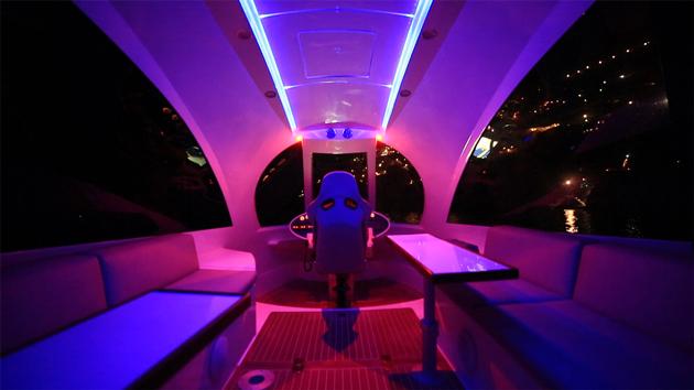 Jet Capsule with neon lighting