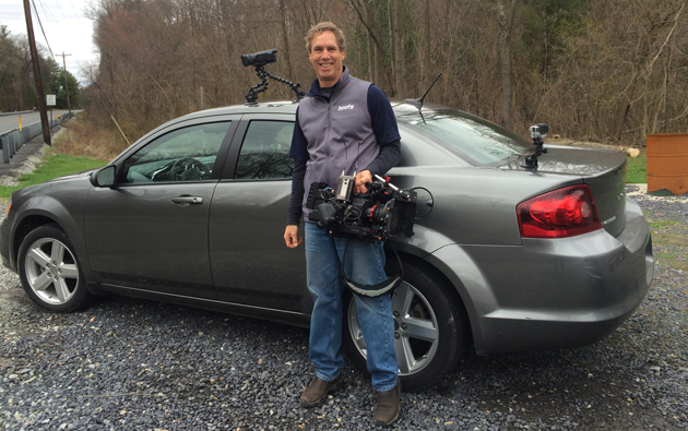 cameras mounted on rental car