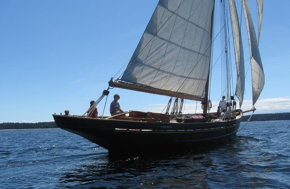 Carlotta, one of the last original Bristol Channel Cutters. Photo courtesy of Carlotta's restorers at www.pilotcutter.ca