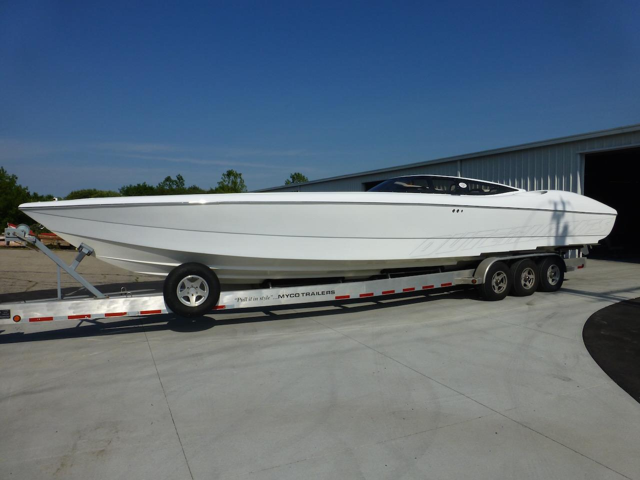 Outerlimits Sportboat Project Complete, with an All-White