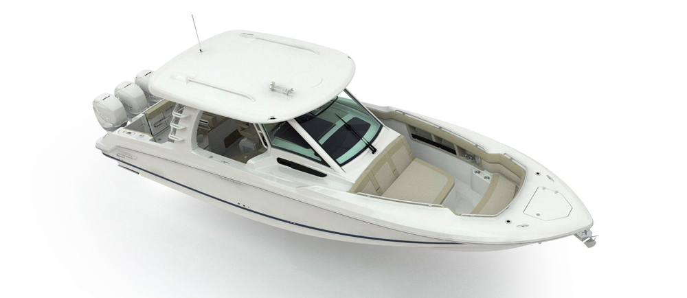 Boston Whaler's 350 Realm is the first offering of the new Realm model.