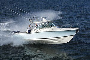 Pursuit 3480 Drummond Island Sportfish: Sea Trial