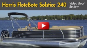 2014 Harris FloteBote Solstice 240: Video Boat Review