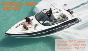 Formula Adds Second Crossover Bowrider, the 330 CBR