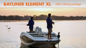 Bayliner Element XL: Add a Fishing Package, Get Hooked Up