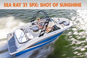 Sea Ray 21 SPX: Shot of Sunshine