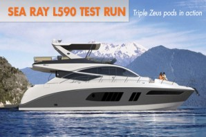 Sea Ray L590 Test Run: Triple Zeus Pods In Action
