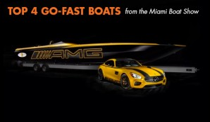 Miami Boat Show Wrap-Up, Part II: Top Four Go-Fast Boat Stunners
