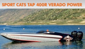 Sport Cats Tapping 400R Verado Outboard Power